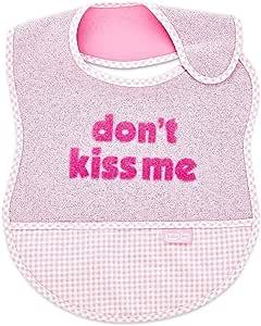 Babyjem Dont Kiss Me Bib, Pink, Bibs
