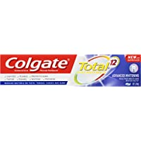 Colgate Total Advanced Whitening Antibacterial Fluoride Toothpaste New and Improved, 200 grams