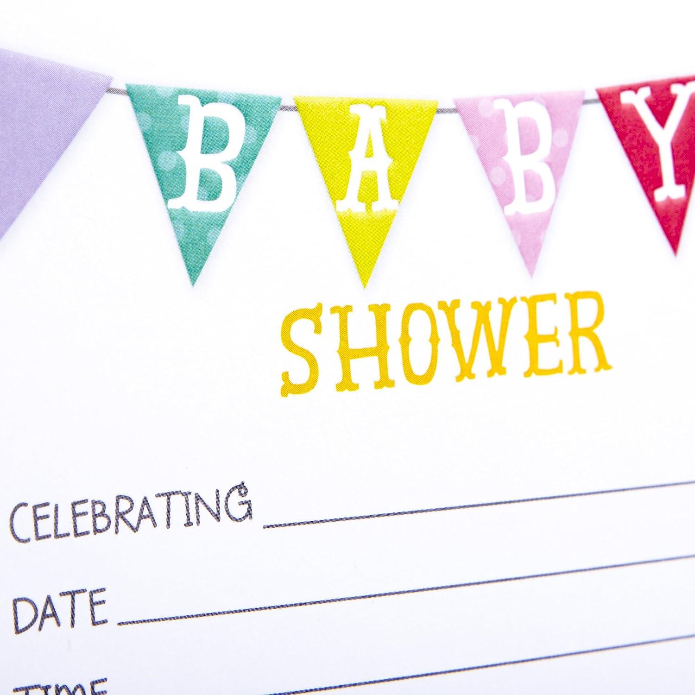 Pack of 10 Invites and Envelopes for Baby Boy Hallmark Baby Shower Invitations Onesie