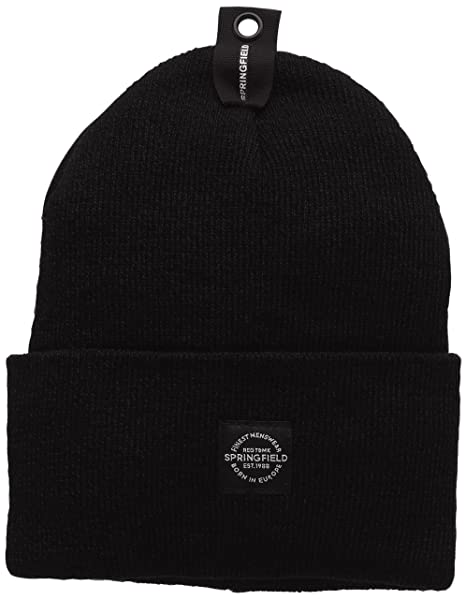 Springfield Basic BEANNIE Gorro, Black, U para Hombre: Amazon.es ...