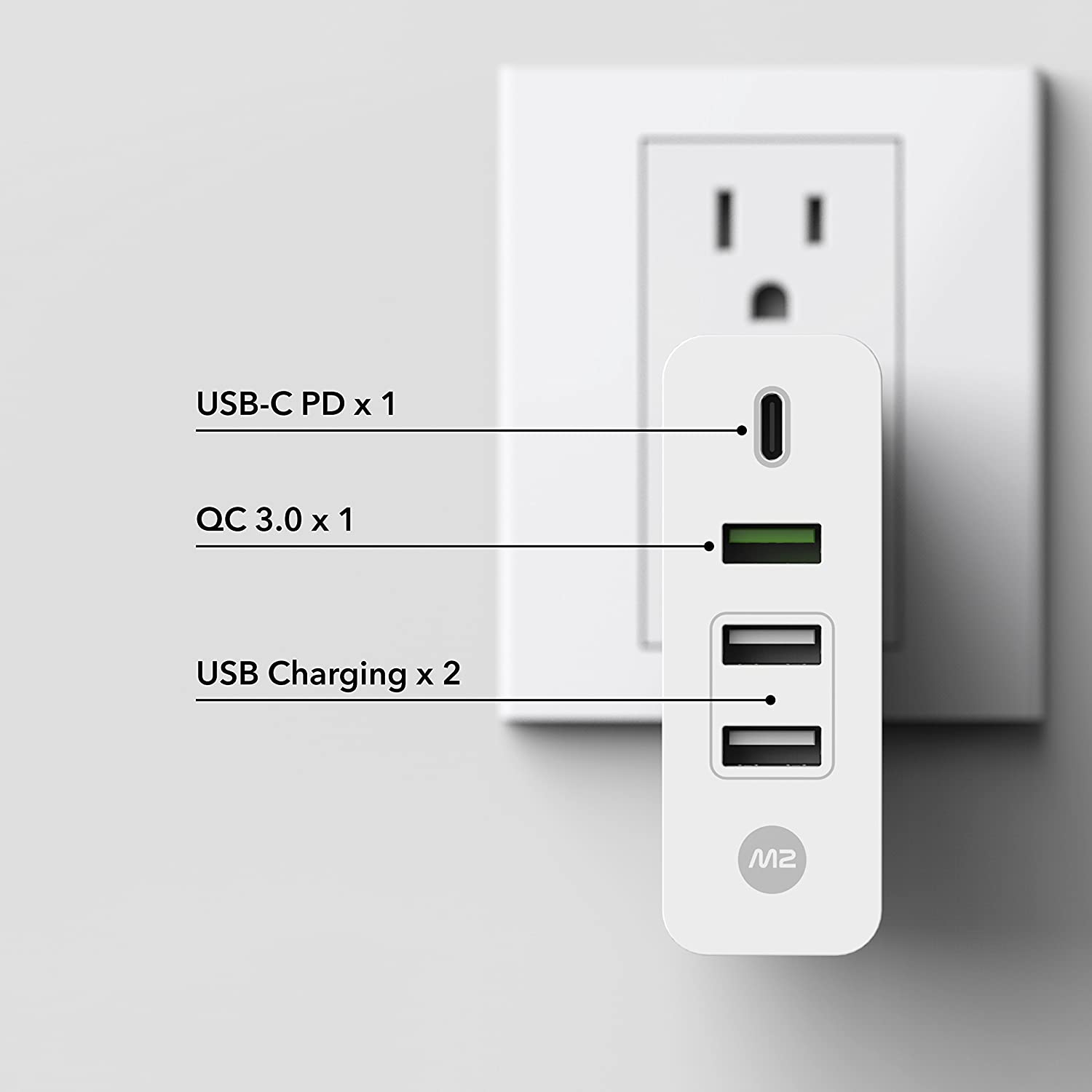 Monitormate M2 Cube Usb C Pd 1 To 4 Expansion For Usbc Wiring Diagram Macbook Pros Charger61w 87w Computers Accessories
