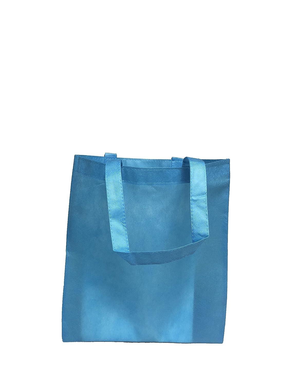 再利用可能な会議/カンファレンス用トートバッグ 不織布 明るい色 販促 景品向け Set of 50 ブルー B01NBI9FVU Set of 50 アクア アクア Set of 50