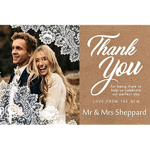 tietheknotprint uk wedding thank you cards envelopes with photo choice of designs click - Wedding Thank You Cards