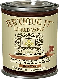 Retique It Liquid Wood 16oz Pint 2. Dark, 2. Dark Wood