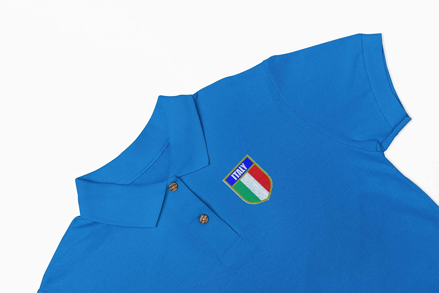 Great for Any Italy Italian Rugby Fans for 6 Nations and World Cup Available Upto XS Super Lemon Italy Italian Adults Rugby Exclusive Retro Vintage Mens Womens Unisex Blue Polo Shirt 7XL