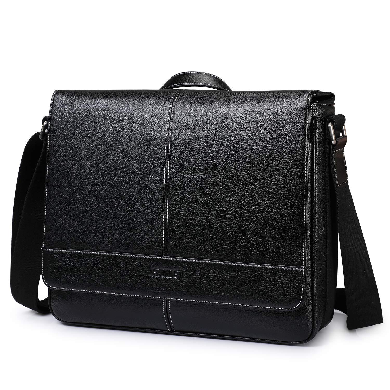 14 Inch Laptop Briefcase S-ZONE Mens Messenger Bag Computer Handbag Shoulder Crossbody Bag