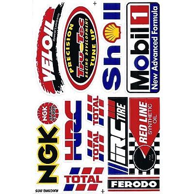Sponsor Motocross Racing Tuning Motorbike Decal Sticker Sheet C219: Automotive