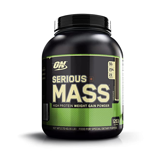 Optimum Nutrition (ON) Serious Mass Weight Gainer Powder - 6 lbs, 2.72 kg (Chocolate) Mass & Weight Gainers at amazon