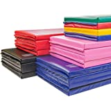 """IncStores Premium Folding Mats 1.5"""" and 2"""" Featuring 4 Sided Velcro - Crosslink Polyethylene foam encased with 18 oz vinyl fabric for Gymnastics, Tumbling, Cheerleading and Wrestling"""