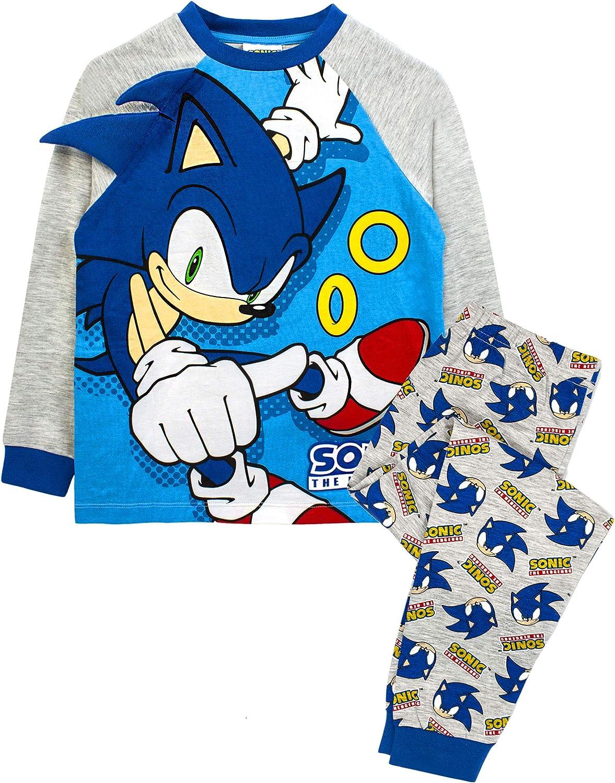 Sonic The Hedgehog Pigiama Personaggio Grigio Blu 3D Spikes