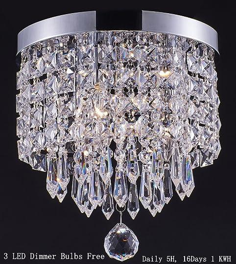 Smart LightingShupregu 3light modern Crystal Chandelier Flush