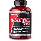 MET-Rx Creatine 4200 Supplement, Supports Muscles Pre and Post Workout, 240 Capsules