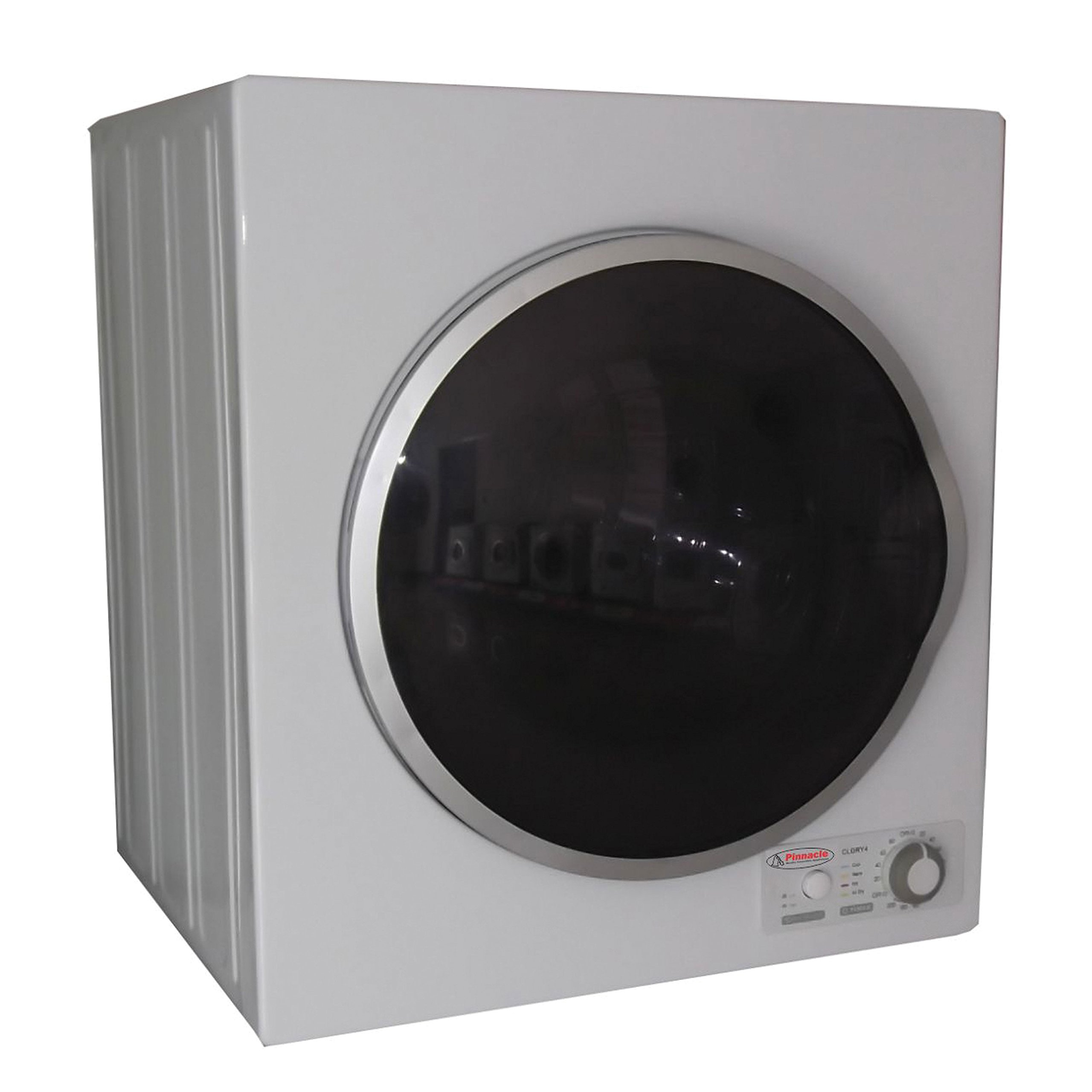 Triton TD850 Compact Dryer with Silver Trim, White