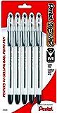 Pentel R.S.V.P. Ballpoint Pen, Medium Line, Black Ink, 5 Pack  (BK91BP5A)