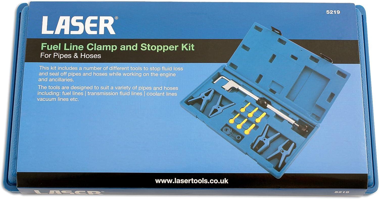 Laser 5219 Set di morsa e tamponi per circuito carburante