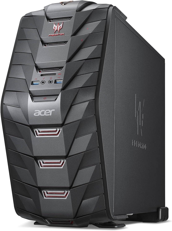 Acer Predator G3 Intel Core i7-7700K 4.2GHz/2TB 7200RPM + 240GB Solid State Drive/64GB DDR4 SDRAM/Nvidia GeForce GTX 1070 8GB GDDR5 Graphics/Windows 10 Gaming Desktop