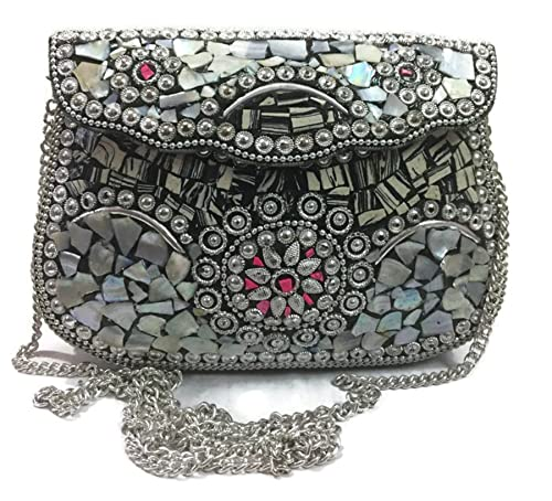 Gannu Indian para mujer Wedding Box Ethnic Clutches para ...