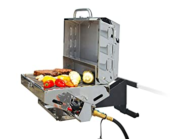 Camco Olympian Stainless Steel Tabletop Gas Grill