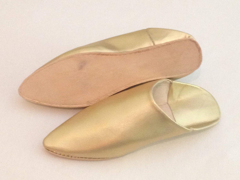 women, gold,Handmade slippers