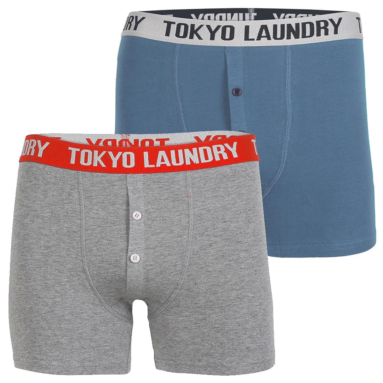 Herren Tokyo Laundry Haven Zwillings 2er Packung Designer Boxer Shorts:  Amazon.de: Bekleidung