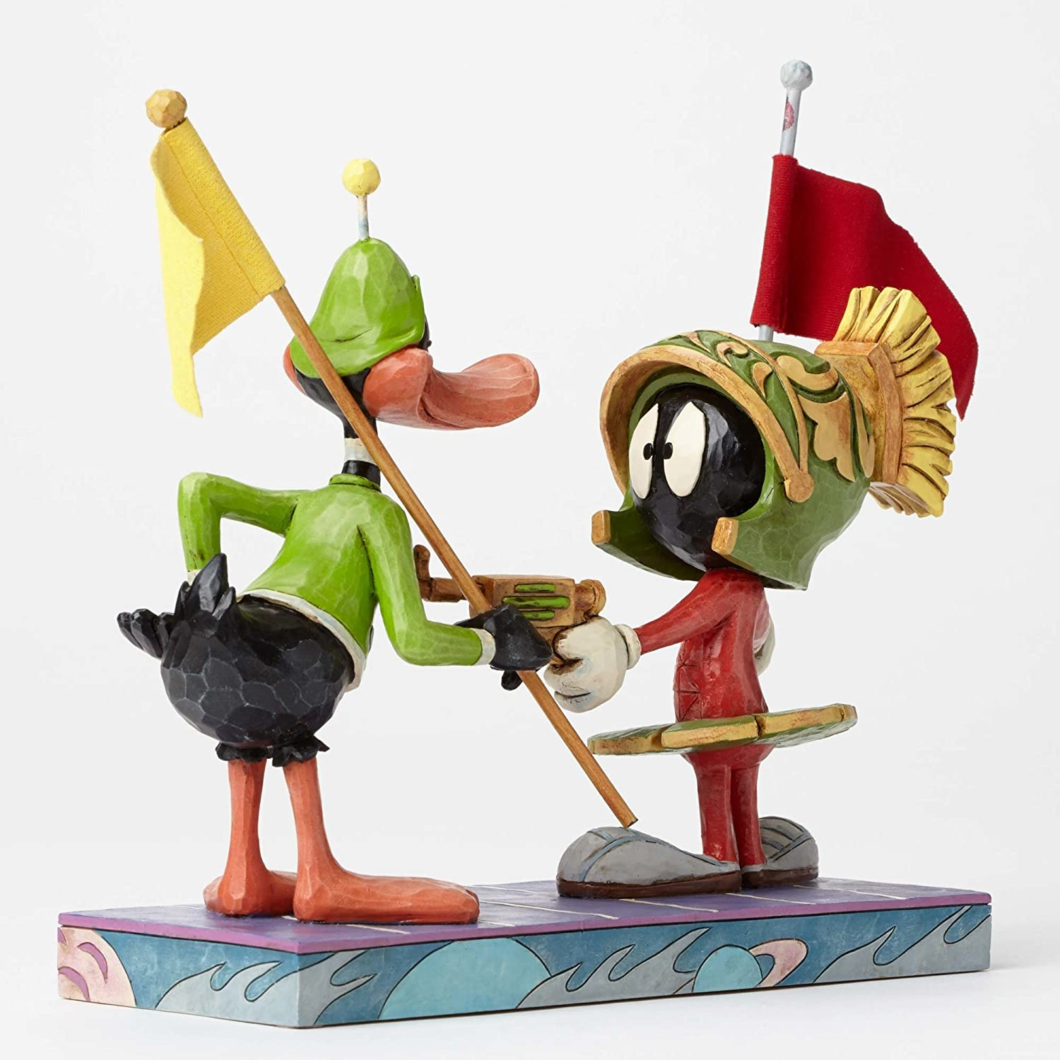Looney Tunes Marvin the Martian and Daffy Duck 6.75 Inch Tall Hand-Painted Figurine by Jim Shore Enesco