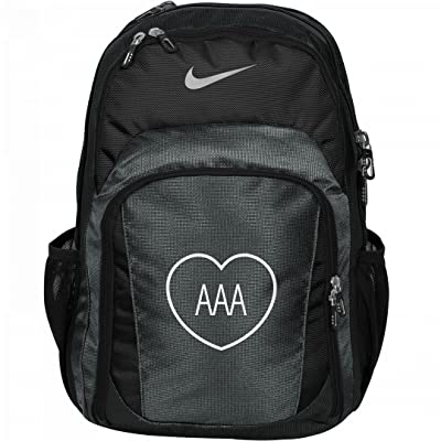 Custom Initials In Heart Monogrammed Backpack For Girls: Nike Performance Backpack