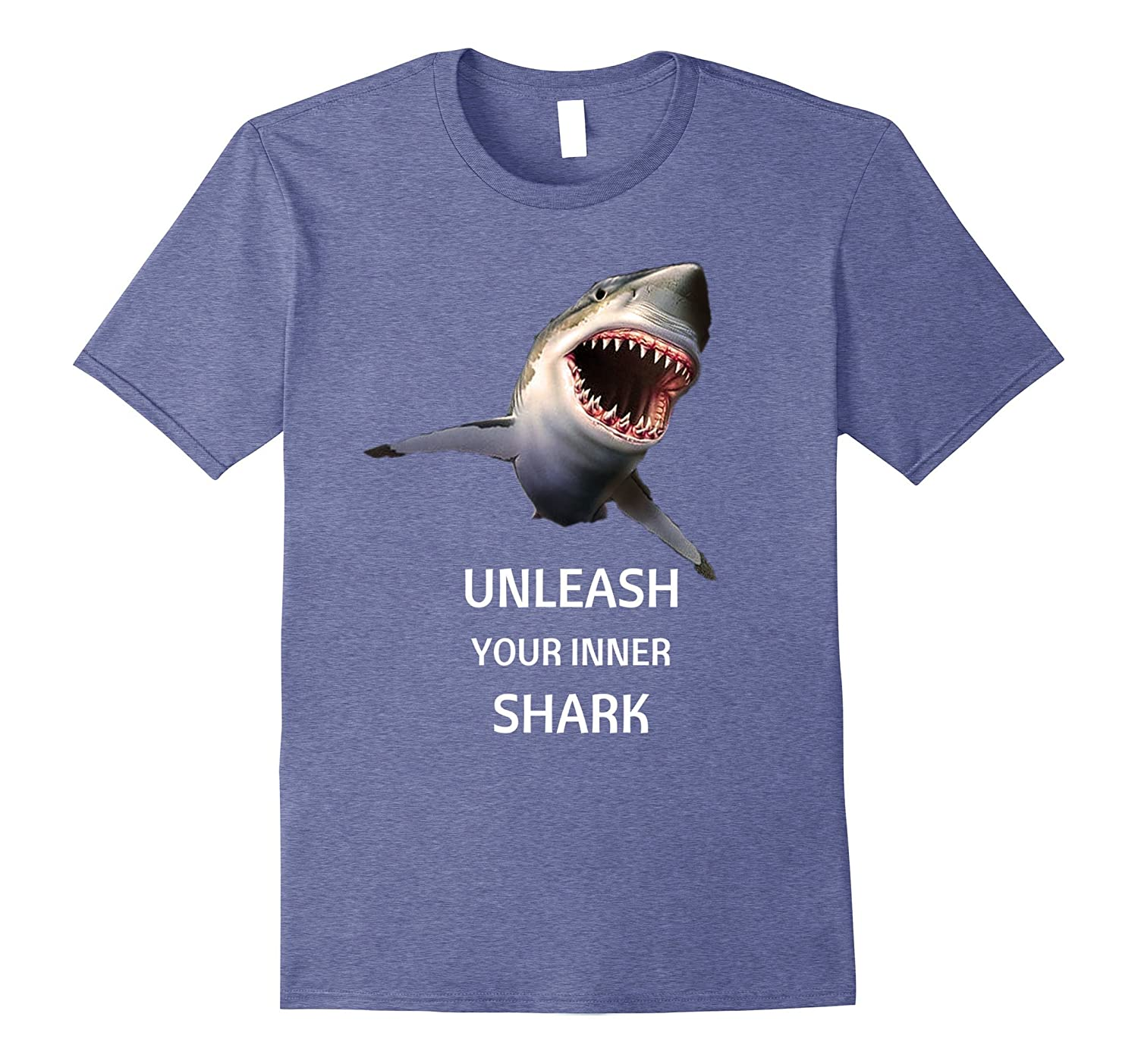 Unleash Your Inner Shark- Awesome Great White Shark T-Shirt-BN