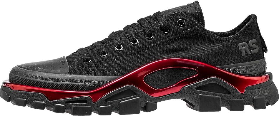 Amazon Com Adidas X Raf Simons Men New Runner Black Scarlet Core Black Fashion Sneakers
