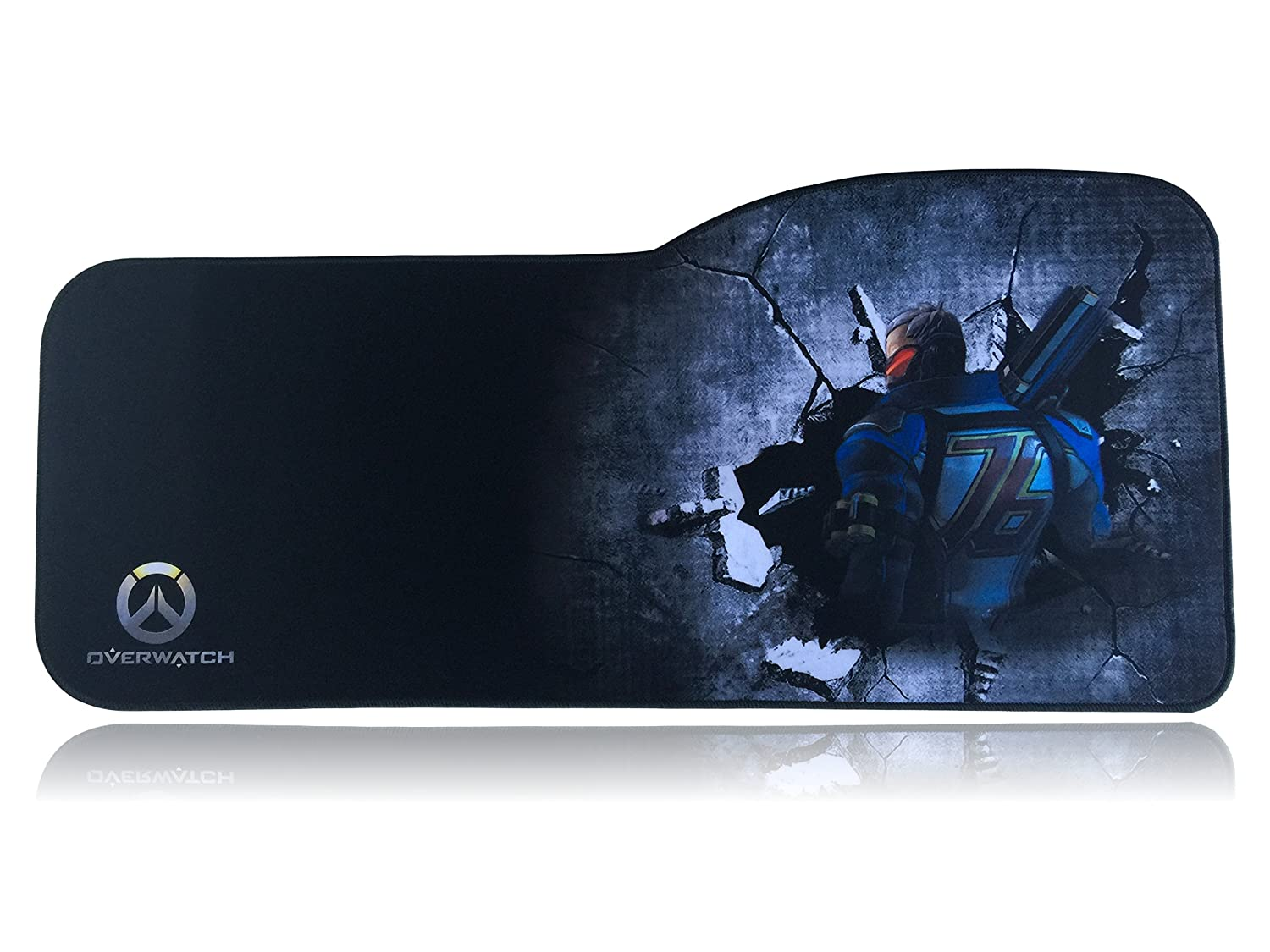 Overwatch Extended Size Custom Professional Gaming Mouse Pad - Anti Slip Rubber Base - Stitched Edges - Large Desk Mat - 28.5' x 12.75' x 0.12' (Curve, Hanzo) Shenzhen Longhua New District Fudingtian Rubber Product Factory pbpad-LL1