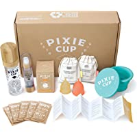 Pixie Menstrual Cup Starter Kit - Most Comfortable Authentic Silicone Period Cup - Best Removal Stem - Tampon and Pad…