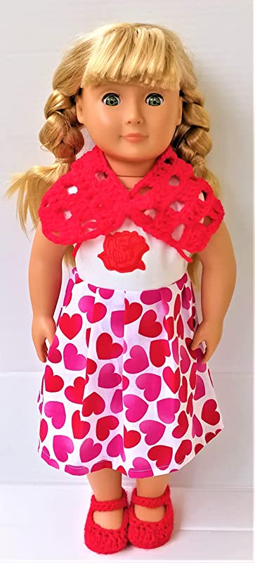 Fashion Pink Dress Party Skirt Shawl Fit For 18/'/'American Girl Doll Clothes Gift
