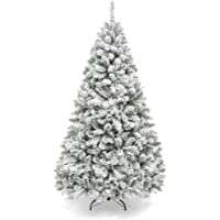 Best Choice Products 6ft Premium Snow Flocked Artificial Holiday Christmas Pine Tree for Home, Office, Party Decoration…