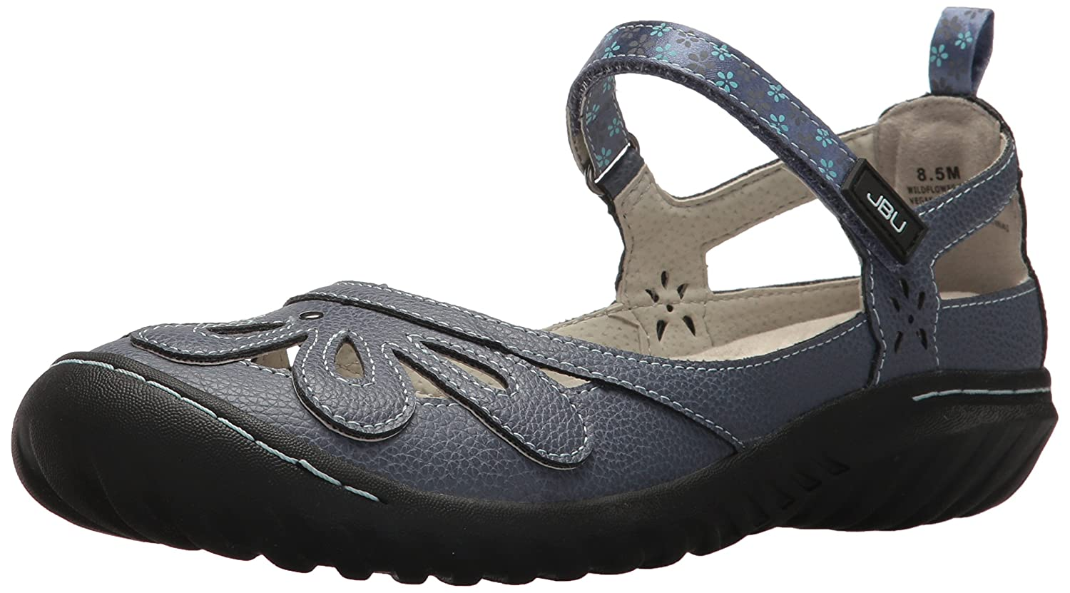 JBU by Jambu Women's Wildflower Encore Mary Jane Flat B074KPR9CC 8.5 B(M) US|Denim