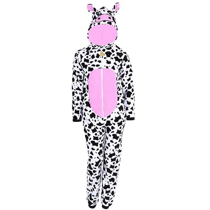 Pijama de manchas de una sola pieza - Vaca LOVE TO LOUNGE - X-Small