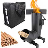 Camping Rocket Stove by StarBlue with FREE Carrying Bag - A Portable Wood Burning Camping Stove with Large Fuel Chamber…