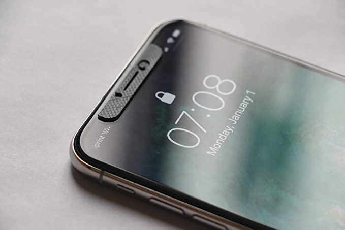 timeless design e0bc0 42cc8 iPhone X Front sensors Cover - Black (2-Pack)