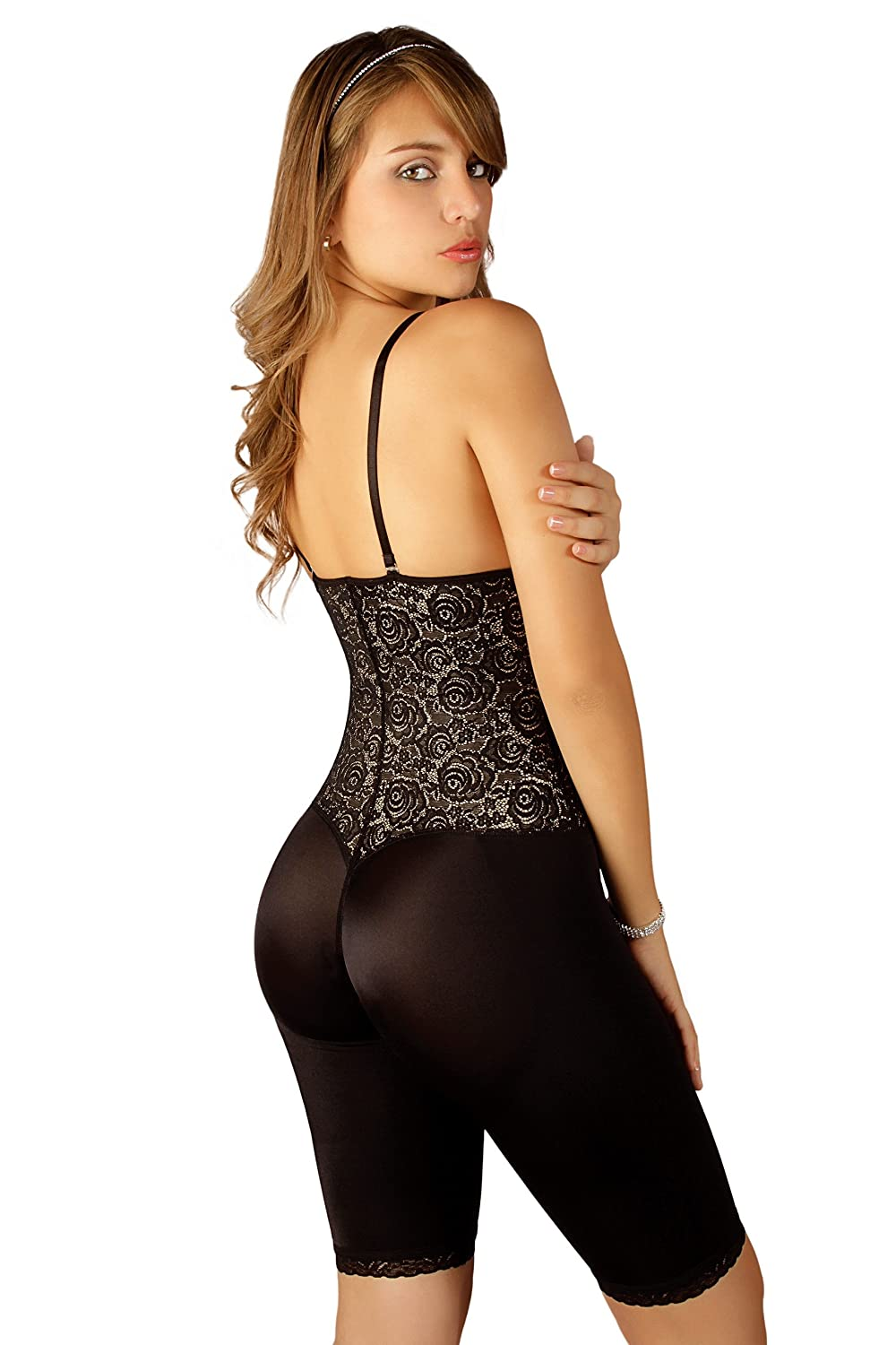653626fd3f3 Vedette 508 Women s Coco Strapless Mid Thigh Full Body Shaper at Amazon  Women s Clothing store