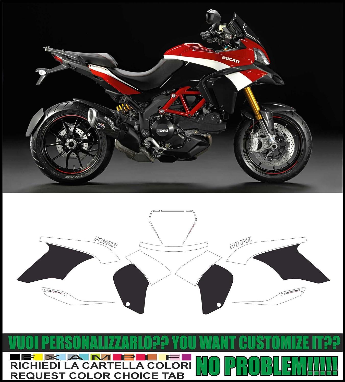 KIT ADESIVI MOTO DUCATI MULTISTRADA 1200 2010 2014 FS-MULTI10-14 Black /& Red, Red