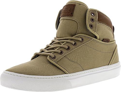e1bdfbe324 Vans Alomar Textile and Leather Khaki White High-Top Fabric Skateboarding  Shoe - 8.5