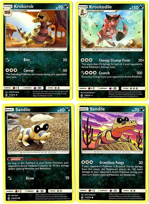 Pokemon TCG Krookodile 85//149 Sun /& Moon Base Set Rare HOLO NM//M
