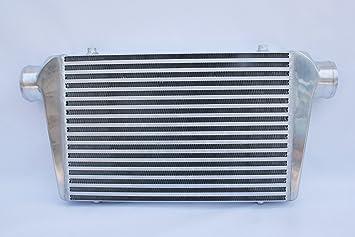 Supeedmotor Intercooler Universal 3 Entrada y salida de montaje frontal Turbo Intercooler 450 x 300 x 76 mm Core Intercooler: Amazon.es: Coche y moto