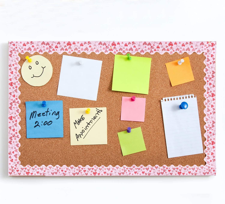 URATOT 65.6 Feet Valentines Day Bulletin Board Border Scalloped Border Decoration Rolled Borders for Black Board Classroom Decoration