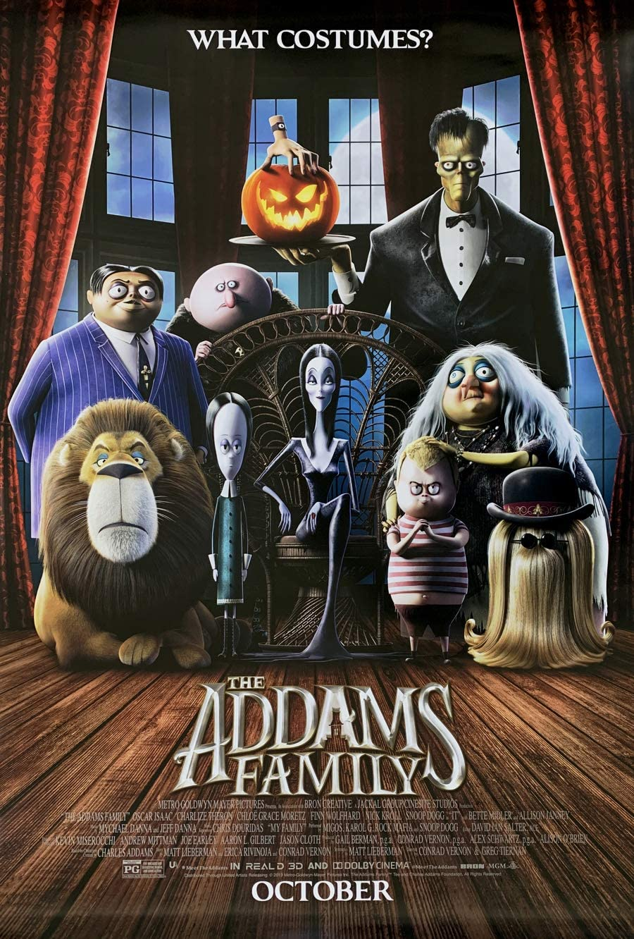 THE ADDAMS FAMILY MOVIE POSTER 2 Sided ORIGINAL Advance 27x40 CHARLIZE THERON