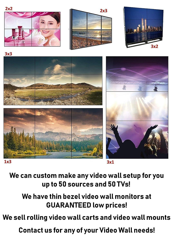 2x2 4K UHD Video Wall HDMI Processor IP Network PoE HDTV 1080p Controller  Splicer 2x2 1x2 2x1