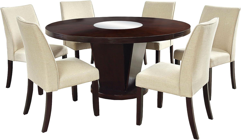 Furniture of America Telstars 7-Piece Round Table Dining Set, Espresso