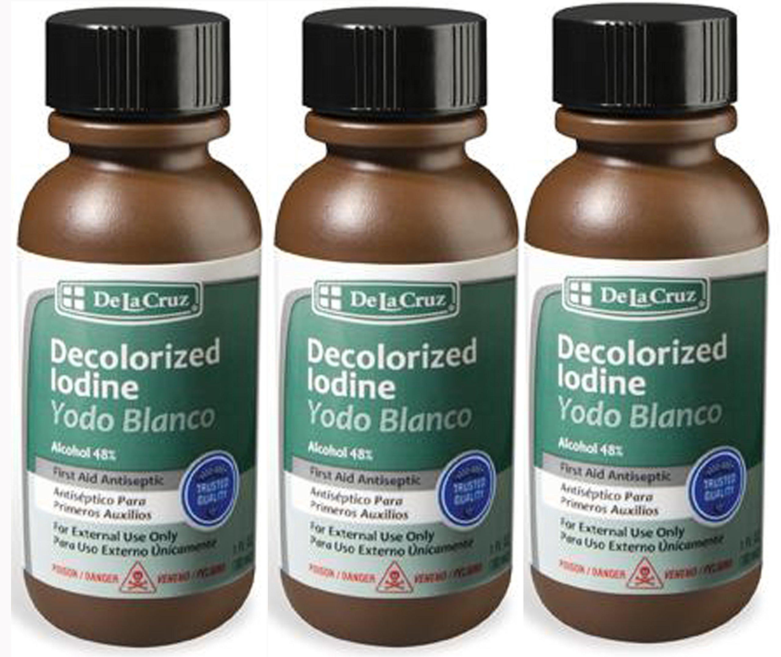 Amazon.com: IODINE Tincture Decolorized Colorless White Clear IODO ...