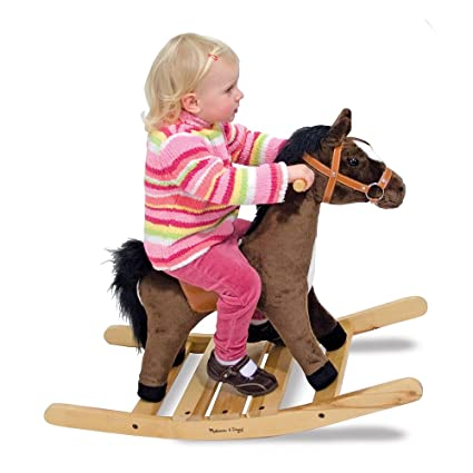 Amazon Com Melissa Doug Rock And Trot Rocking Horse
