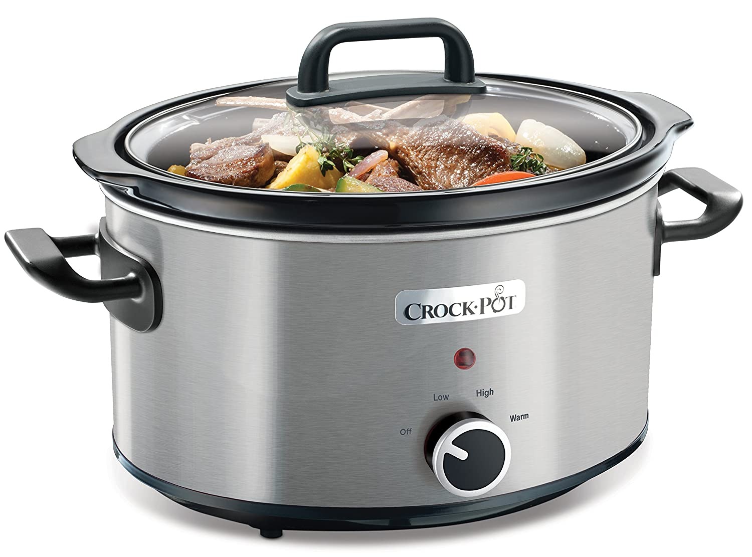 Crock Pot 3.5L Brushed Stainless Steel Slow Cooker 220/240 volt 50HZ (Will not work in USA)