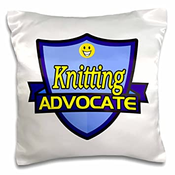 Dooni Designs U2013 Funny Sarcastic Advocate Designs   Knitting Advocate  Support Design   16x16 Inch Pillow