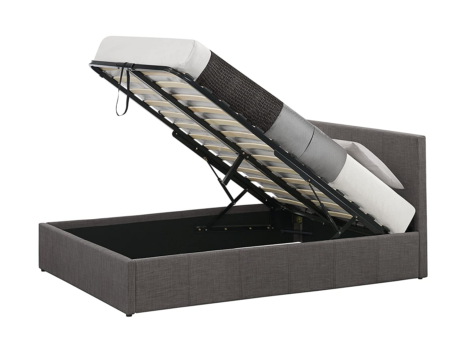 Birlea Berlin Ottoman Bed Fabric Grey Small Double Amazonco